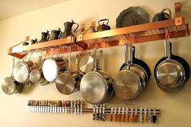 ceiling rack for pots and pans pot pan rack pot pan rack kitchen pots and pans