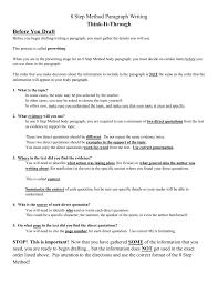8 Step Method Paragraph Writing