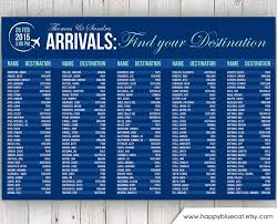Wedding Seating Chart Rush Service Arrivals Airport