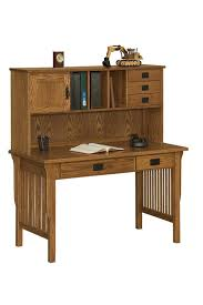 amish arts and crafts writing desk with hutch top