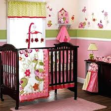 photo 2 of 7 girl turtle crib bedding pictures pink and green baby set for cocalo