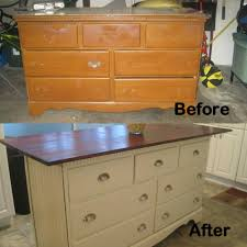 diy kitchen island from dresser. Old Dresser I Turned Into Kitchen Island Diy From E
