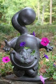 alice in wonderland rare cheshire cat garden statue home winnie the pooh garden statues