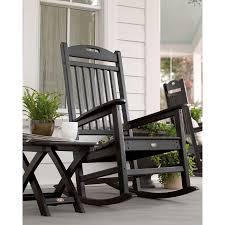 trex outdoor furniture yacht club plastic rocking chair with slat seat