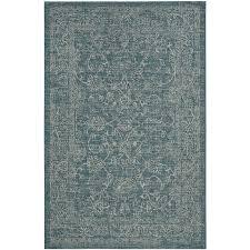 safavieh courtyard providence turquoise indoor outdoor coastal area rug common 5 x 8