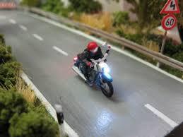 Krad Motorrad Mit LED Beleuchtung H0 Variante Nr. 1