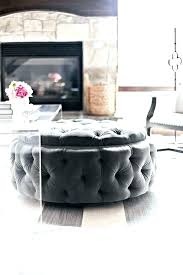 round fabric storage ottoman awesome tufted coffee table charming with tray and