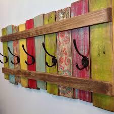 colorful diy coat rack