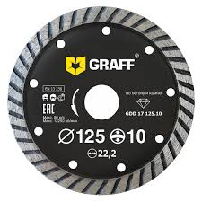 <b>Диск</b> алмазный <b>GRAFF</b> 125х10х2.5х22.23 мм <b>GDD 17</b> 125.10 в ...