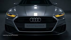 Audi Coming Home Lights Audi A7 Animation Light Functions Video Audi Mediatv