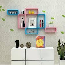 wall mounted cube shelves unit set of 3 wooden box floating wall mounted cubes shelves wall