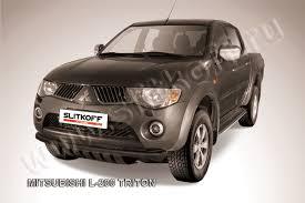 <b>Защита переднего бампера d57</b> черная для Mitsubishi L200 ...