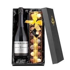 personalised prosecco chocolates gift set