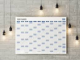 Best Year Planner Template 2018 Printable Pdf Wall Agenda | Seven Photo