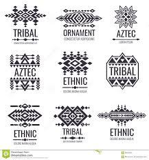 племенная ацтекская картина вектора индийские графики для дизайнов