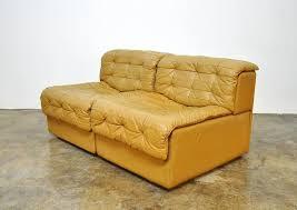 mid century modern de sede ds 11 caramel leather loveseat sofa for