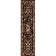persian classics isfahan black 2 ft x 8 ft runner rug