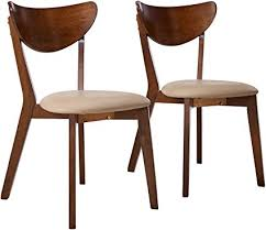 coaster home furnishings kersey mid century modern scandinavian upholstered seat cushion bentwood dining side chair