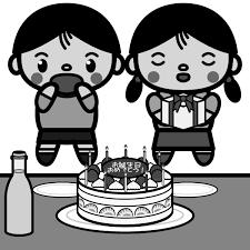 かわいい誕生日会バースデーパーティーの無料イラスト商用フリー