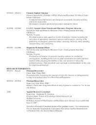Psychologist Resume New Undergraduate Resume Template Sample Cv Pdf Finance Student