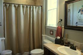 image of simple country style shower curtains