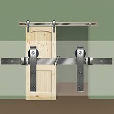 Sliding barn doors interior Modern 4520185 Barn Door Hardware Kit Nickel Youtube Barn Door Track Hardware Kit 72