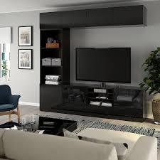 tv storage glass door ikea
