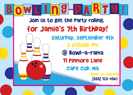 invitations to print free free bowling birthday party invitations print