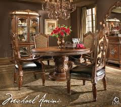 dining room table set. Luxury Four Chairs Round Table Lamp Rug Curtain Pic Buffet Dining Room Set R
