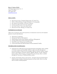 Marine Biologist Resume Example Cover Letter Marine Resume Examples Biologist Biology Template Sevte 1