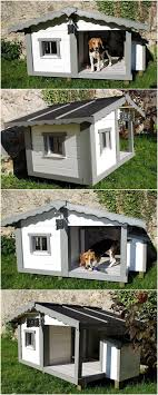 House Made From Pallets Cute Dog House Made With Wood Pallets Pallet Ideas