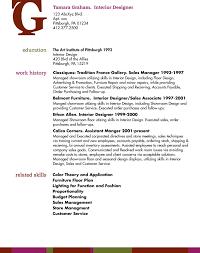 Professional Resumes Graphic Designer Interior Design Resume 324