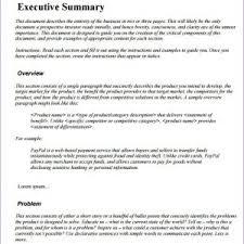 Executive Summary Apa Format Example Elim