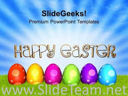 Easter Eggs For Easter Day Celebration Powerpoint Template