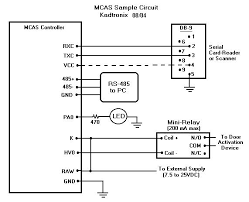 mcas wiring hookup details note 1 card readers have different pin outs and voltage requirements consult your specific device s documentation for hook up information