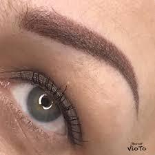 плюсы пудрового напыления бровей перманентный макияж By Iryna