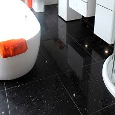 quartz star stone black floor tiles
