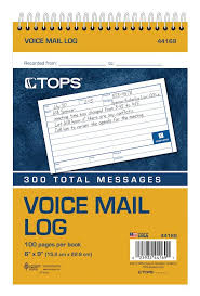 Phone Message Log Book Voice Message Log Book 2 Sided 1 Part White 3 Msg Pg 50 Sh Bk