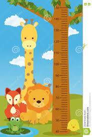 Kids Height Chart Height Chart Animals Stock Vector Illustration Of Cartoon