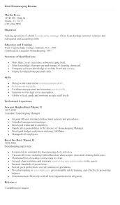Housekeeping Job Description For Resume Housekeeper Sample Template Fascinating Housekeeping Resume Skills