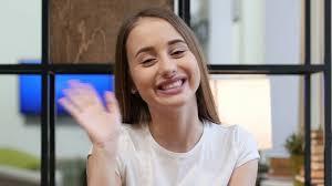 Girl talking to camera