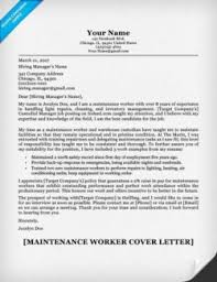 Related Cover Letter & Resume Sample. Maintenance Worker ...