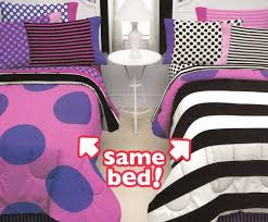 missmatched double vision 7pc full bed in bag bedding set