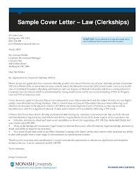 Law Student Application Cover Letter Templates At