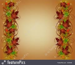 Fall Invitation Templates Illustration Composition Of Colorful Fall Leaves Thanksgiving Autumn Fall Invitation Border Or Background With Copy Space