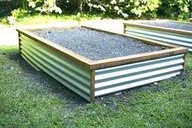 cinder block garden bed concrete raised on corners