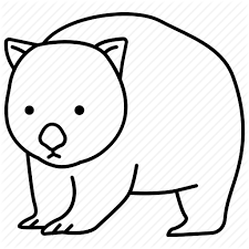 Wombat Drawing Outline Cute Wombat Coloring Pages Best Line