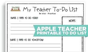 School Supplies List Template Teacher To Do List Template