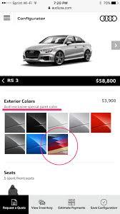 Audi Exclusive Special Paint Colors 2019