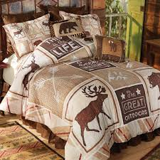 topic to stone mountain moose bear bed set queen bedding ar